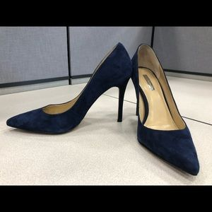 Worn once! BCBG Suede Navy Pumps